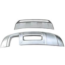 Car styling!2pcs Front+Rear Bumper Skid Protector Guard Bumper Protector  For Audi Q3 2012-2015