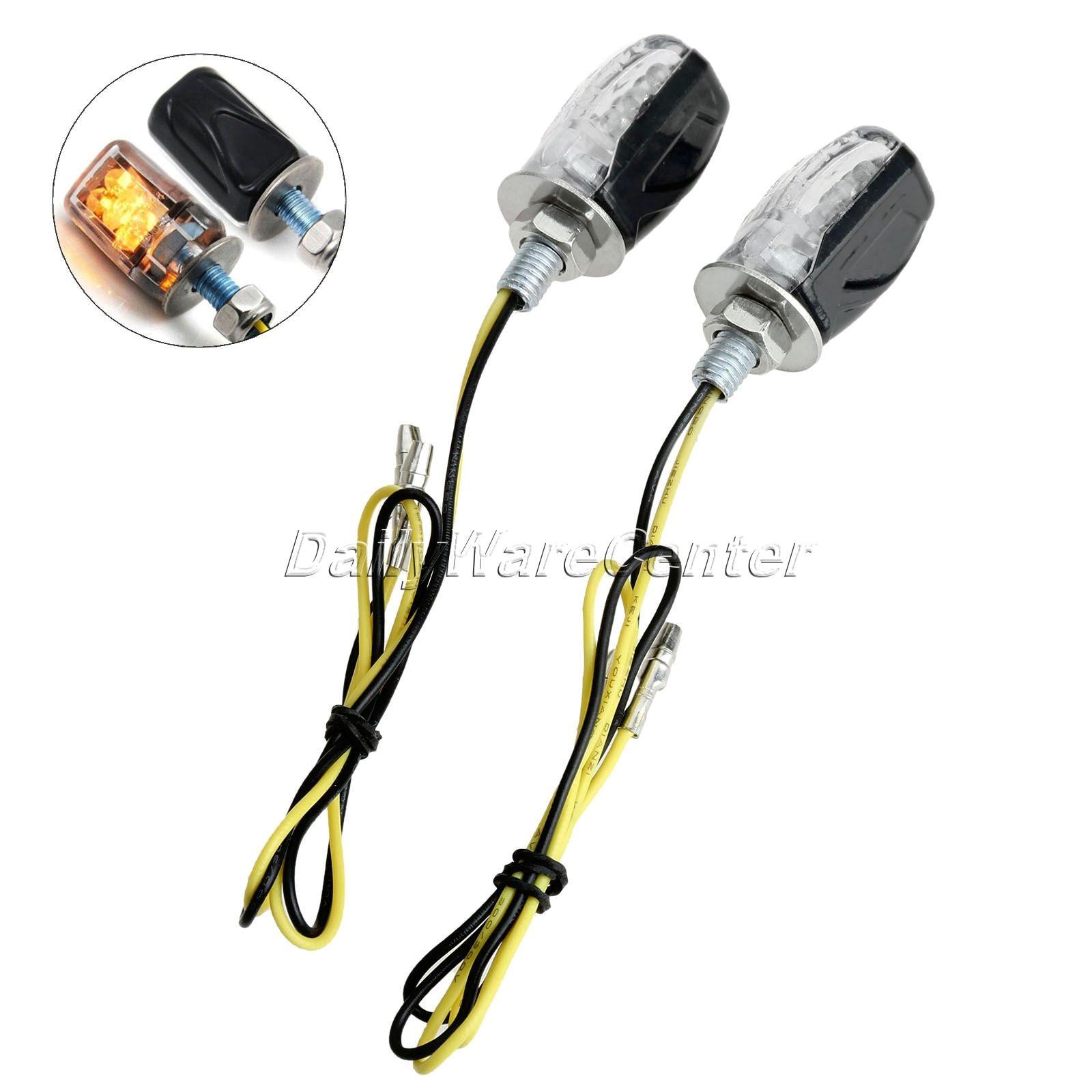 2x Motorcycle Led Turn Signal Indicator Light Lamp 6 LED Amber Light Universal Blinker Flashers For Honda Kawasaki Suzuki Yamaha