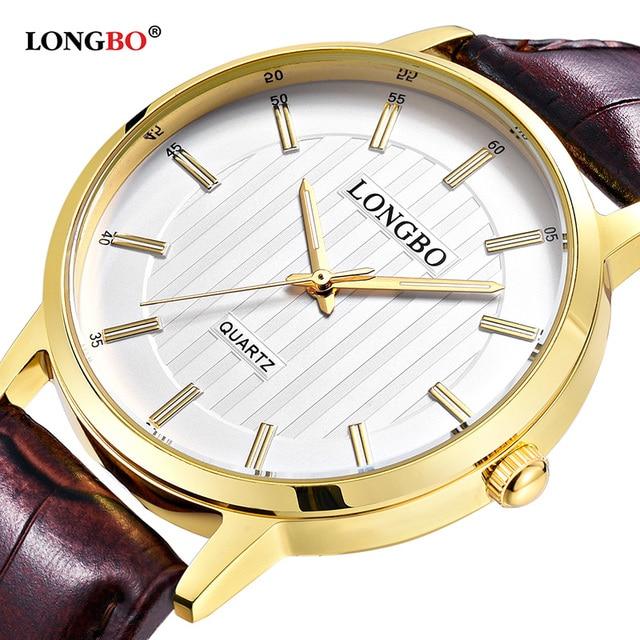 24b264cdbcd LONGBO Luxury Quartz Watch Women Men Luxury Leather Watches Men Women  Couple Watch Casual Analog Wristwatch
