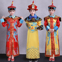 Lovely Girl's Qing Dynasty Dramaturgic Dress Children Suit Chinese Traditional Kids Ancient Infanta Costume Dande Wear Cosplay