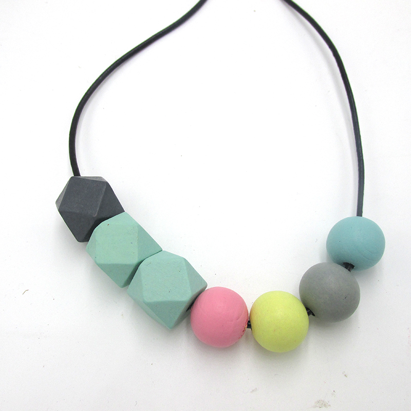 Free Shipping!! 2016 Hot Sale Chunky Geometric wood Necklace