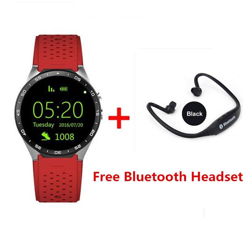 imágenes para Nuevo smart watch 1.39 ''amoled kingwear kw88 3g llamando cámara 2.0mp wifi podómetro del ritmo cardíaco pk x5 x02 k18 iwo smart watch
