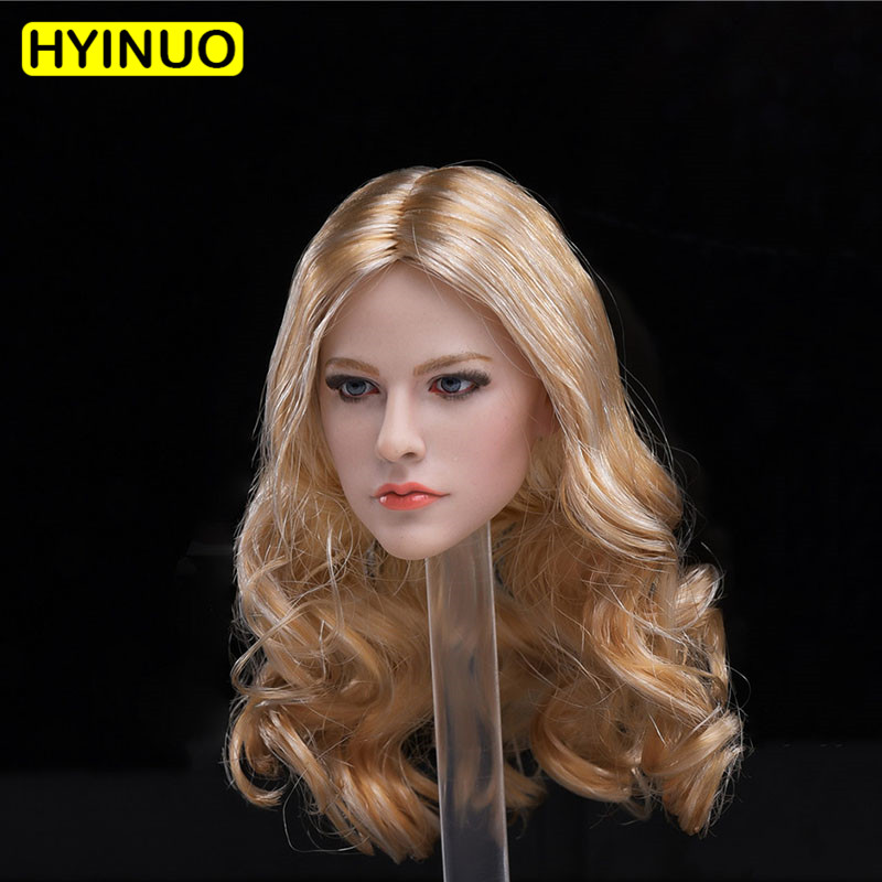 1/6 Scale Long hair goddess latest Avril Head Soldier European American Beauty Head Carving Singer For12Action Figure Body Doll1/6 Scale Long hair goddess latest Avril Head Soldier European American Beauty Head Carving Singer For12Action Figure Body Doll