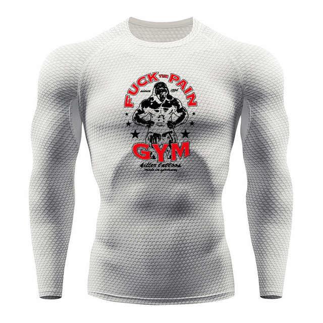 Мужская Горилла Беговая футболка змеиная одежда для фитнеса и спортзала Топ Рашгард футбольная одежда быстросохнущая спортивная рубашка мужская