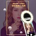 Luz natural levou anel de luz com carga usb noite escuridão selfie selfie enhancing fotografia para iphone samsung telefone clipe