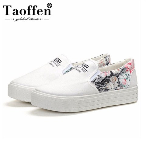 Taoffen New Spring Brand Women Vulcanized Shoes Party Shoes Women Fashion Simple White Casual Daily Shoes Sneakers Size 35-40 Pakistan