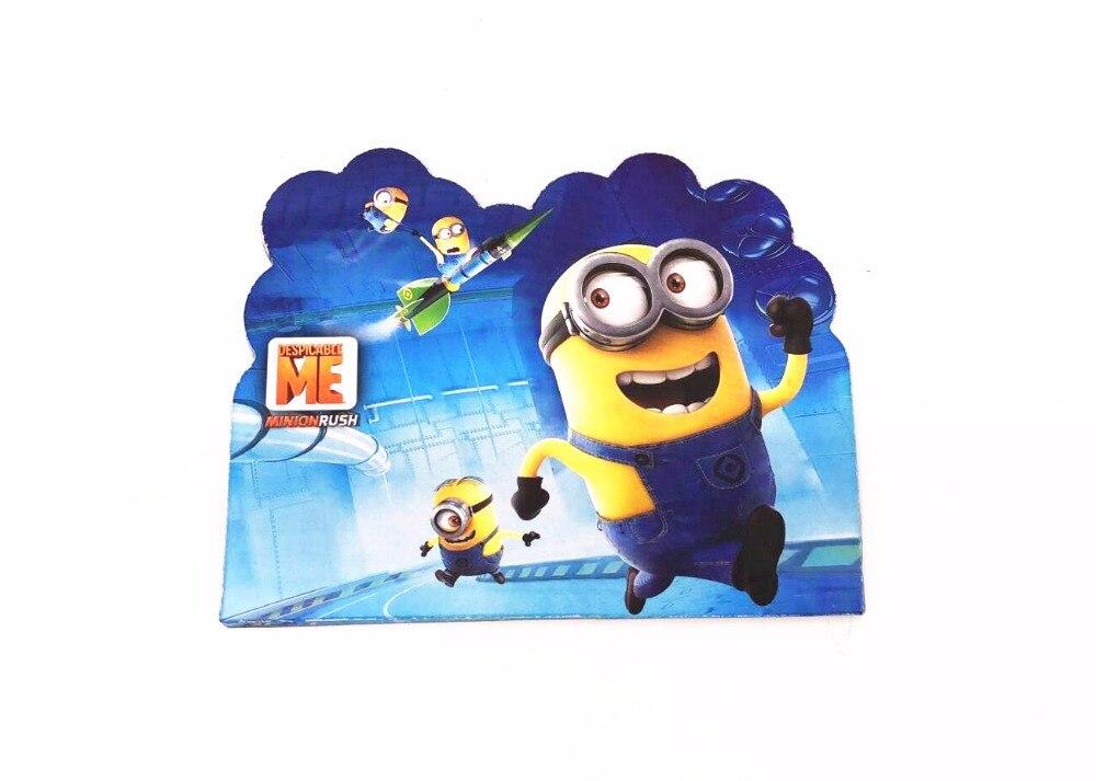 10pcs Cartoon Minion theme Birthday Invitation Card Kid Gift For birthday Party baby shower Decoration
