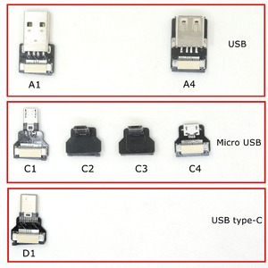 Image 5 - FPV Monitor Standard USB Type C Super Flat flexible FPC Charging Cable USB 2.0 female USB C Micro USB Ribbon OTG Cable AV output