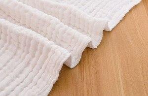 Image 4 - Manta de gasa de algodón arrugado de 6 capas, 100%, algodón, talla grande y color personalizado, manta de 142x228 cm, 100 piezas personalizadas
