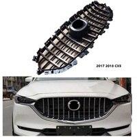 Высокое качество Передняя гонки решетка сетки подножка Маска Крышка грили, пригодный для MAZDA CX 5 CX5 2017 18 внешние аксессуары гриль