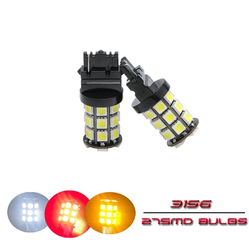 High Power P27W 3156 LED Turning Light Brake Light 27SMD 5050 LED Tail Stop Reverse Lights Bulbs Car Lamp Super Bright 12V