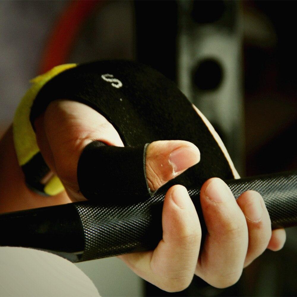 Prix pour 1 Paire de Crossfit Poignées Pull up gant-Texturé Paume En Cuir Protecteur-Pour WODs, croix Formation de Remise En Forme, poids De Levage