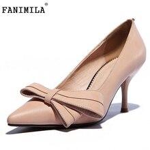 Женщины настоящее натуральная кожа стилет партийные тонкие туфли на высоких каблуках марка сексуальная мода насосы женские туфли на высоком каблуке размер 34-39 R5921