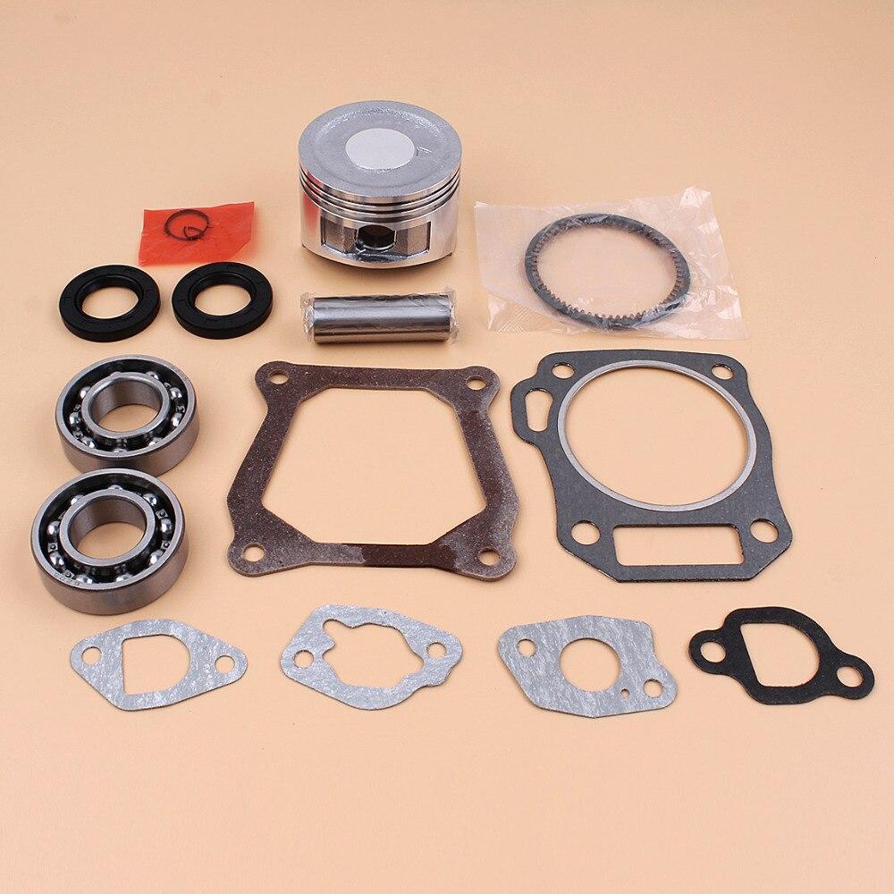 цена на 68mm Piston Rings Bearing Oil Seal Gasket Set For HONDA GX160 GX 160 Chinese 168F Engine Motor Generator Water Pump Lawn Mowers