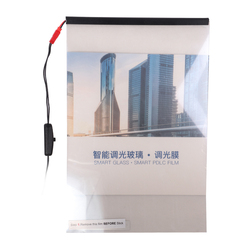 A4 حجم/210*297 مللي متر PDLC عينة سيارة إلكترونية فيلم ذكي PDLC للتحويل فيلم ذكي الكهربائية غشاء زجاجي ذكي بناء نافذة
