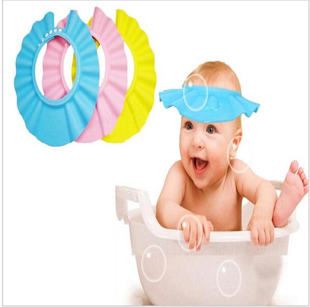 Hot Adjustable EVA Soft Baby Shampoo Shower Cap Baby Care Bath Protection For Kid