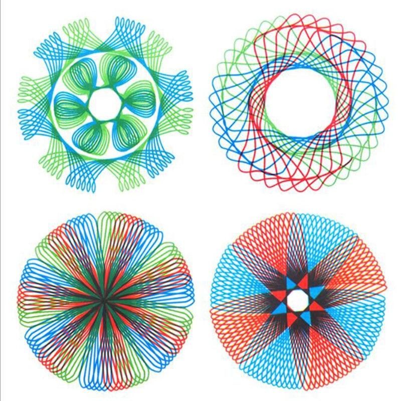 1 комплект/рисования Многофункциональный головоломки в виде геометрических фигур чертеж линейки студент инструмент развития IQ с высоким у...