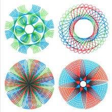1 conjunto/desenho multifuncional quebra-cabeça geometria régua desenho estudante ferramenta desenvolver qi alta criança pintura ensino arte ferramenta livros