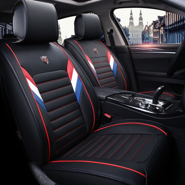 new pu leather auto universal car seat covers for ford explorer focus fusion 2017 2016 2015 2014. Black Bedroom Furniture Sets. Home Design Ideas
