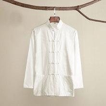 Umorden хлопок Традиционный китайский Тан костюм верхняя одежда для мужчин с длинным рукавом кунг фу Тай Чи Униформа Весна Осень рубашка блузка пальто