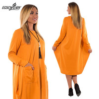 5XL 6XL Plus Size Women Clothing Long Sleeve O Neck Casual Dress Women Winter Loose Dress