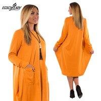 5XL 6XL Plus Size Women Clothing Long Sleeve O Neck Casual Dress Women Winter Loose Dress