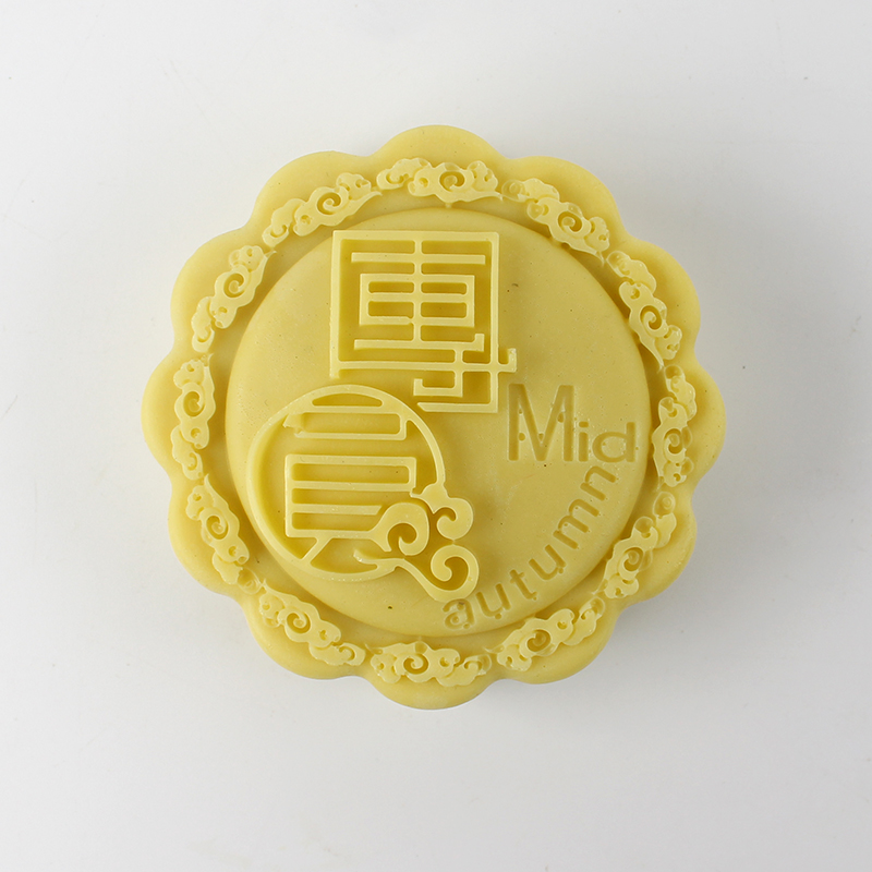 Mooncake Shape Silicone Mold Handmade Soap Chocolate Candy Mould in Soap Molds from Home Garden