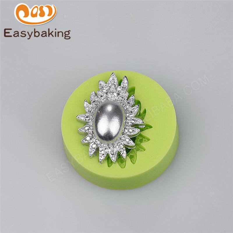 Beautiful Smykker Shape Håndlaget-såpe Silikon Arts Mould Bryllupskake Dekorasjon Konditori Verktøy Polymer Clay Candy Wilton