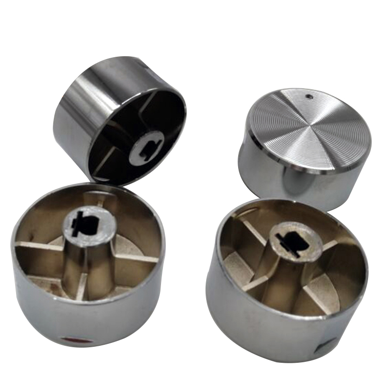 5 PCS High Quality Rotary Switch Gas Stove Parts Gas Stove Knob Stainless Steel Round Knob Knob