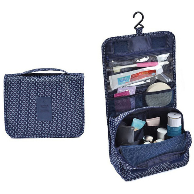 Hanging Toiletry Bag Kit Cosmetic Carry Travel Organizer Make Foldable Storage For Traveling Bathroom