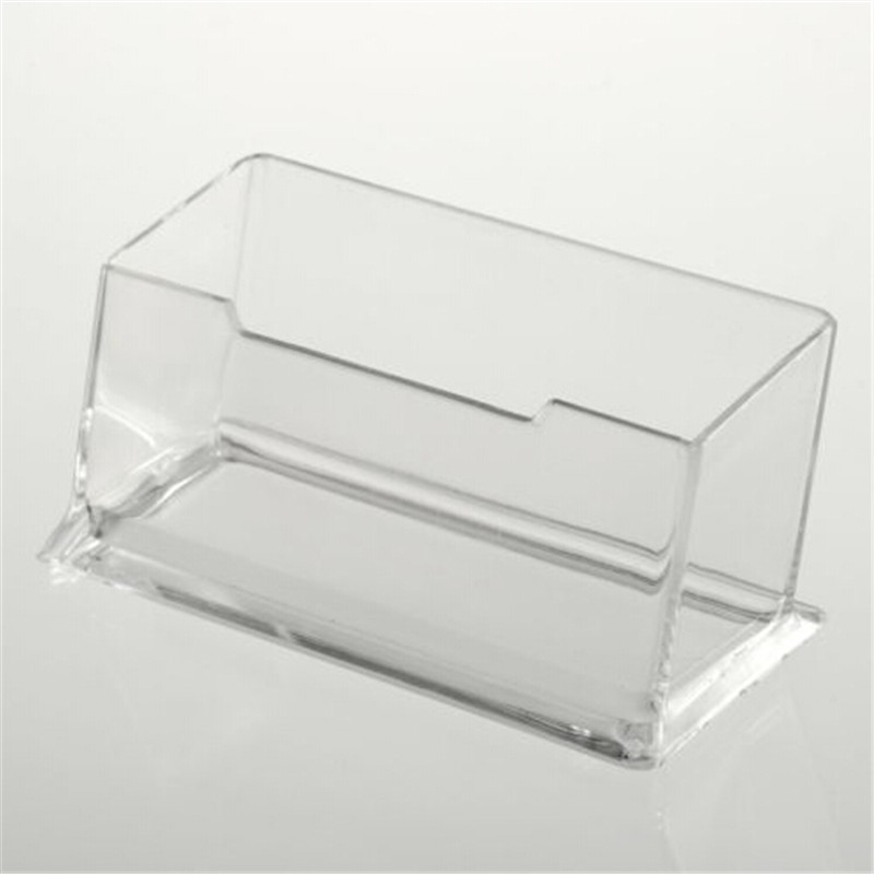 1pcs New Clear Desk Shelf Box Storage Display Stand Acrylic Plastic Transparent Desktop Business Card Holder(China)
