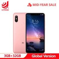 Global Version Xiaomi Redmi Note 6 Pro Snapdragon 636 3GB RAM 32GB ROM 6.26 Notch Full Screen Dual Camera 4000mAh Cellphone