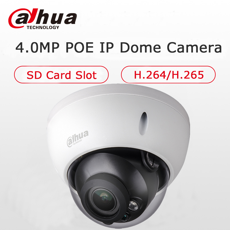 Dahua 4MP Dome IP Camera IPC-HDBW4433R-S H.265 H.264 4Megapixel IK10 IP67 Water proof Network IP Camera with POE SD Slot CCTV dahua water proof 14 poe housing pfh610n h poe