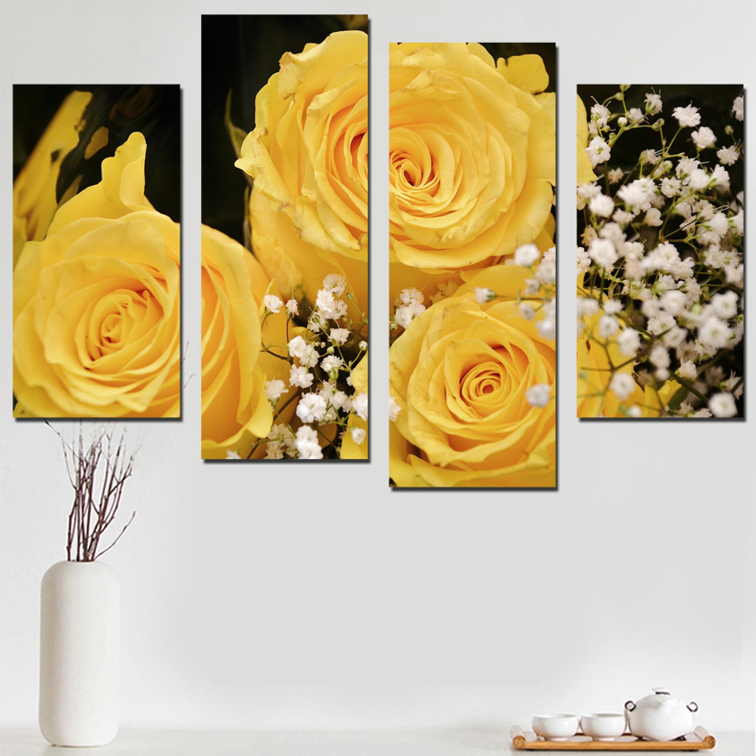 Attractive Rose Wall Art Illustration - Wall Art Collections ...