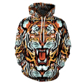 Wholesale Tiger Lion Animals Print 3D Vetements Hoodie Men Casual Fitness Front Pocket Sweatshirts Oversized Kanye 4XL 5XL 6XL