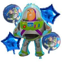 5pcs 18inch Toy Buzz Lightyear Story Balloon Cartoon Foil Helium Balloons Kids Toy Birthday Party Supplies Air Globos Decoration contour ts тест полоски 125