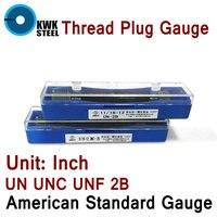 Thread Plug Gauge GO NO GO Gage American Standard Gauge Inch UN UNC UNF 2B Internal