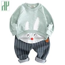 цена на Spring Autumn Baby Boy Set cartoon tracksuit kids sets for girls children clothing T-shirt And Pants 2 piece set Cotton Suits
