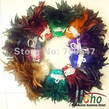 Free Shipping! 200pcs/lot 4-6 10-15cm Mixed Colour Saddle Badger Cock Rooster Feathers