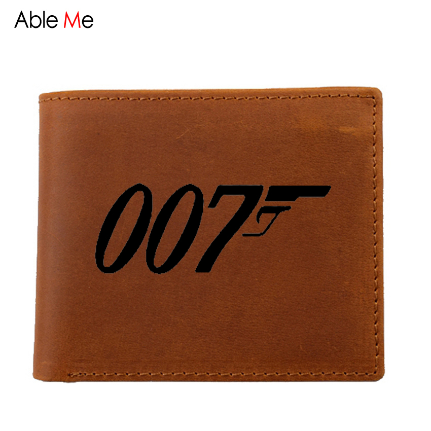 mens wallet high quality genuine leather wallets small purse custom inscription Movie Film Jam birthday gift as unique man walet