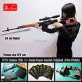 Подлинный Масштаб 1:1 3D Бумаги модели DIY Драгунова СВД Снайперская Винтовка оружие собраны высокая моделирования Пистолет Оружие модель игрушки 120 см