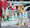 Atacado original estrangeira granéis 100 pc gatinho coelho sylvanian mini bonito kawaii urso boneca crianças brinquedos para crianças meninas
