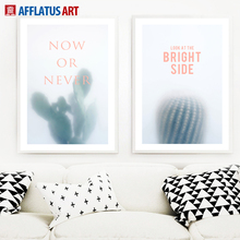 Watercolor Cactus Canvas Painting Nordic Posters And Prints Wall Art Pictures For Living Room Bedroom Decor
