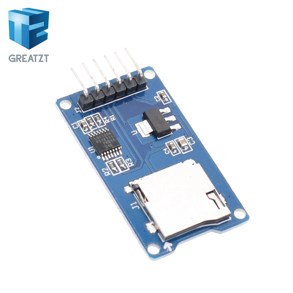 GREATZT 1pcs Micro SD card mini TF card reader module SPI interfaces with level converter chip for arduino