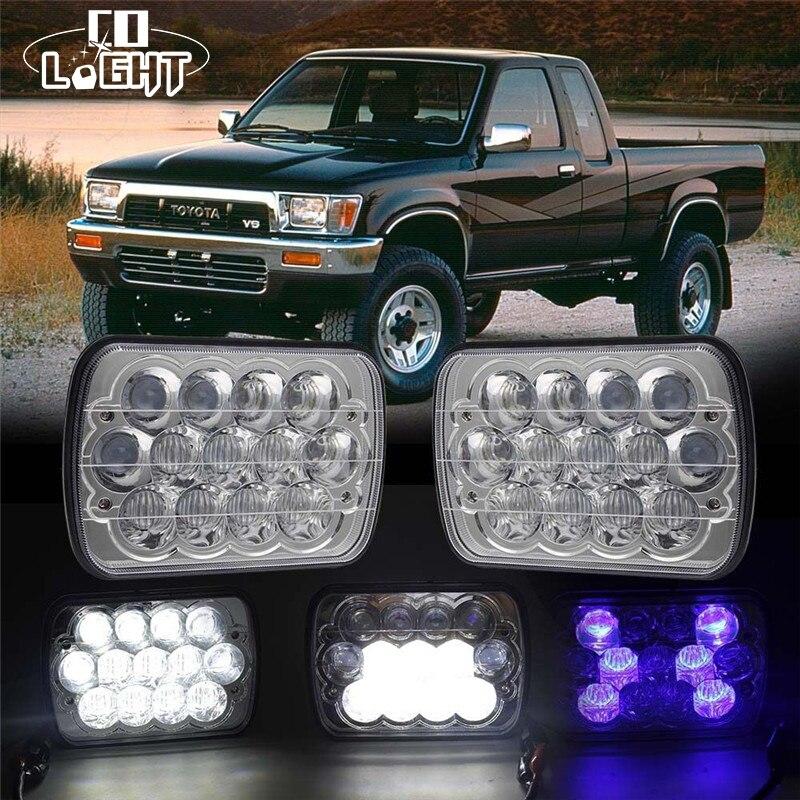 CO LIGHT 1 Pair 5X7 7X6 Sealed Beam Led Headlight 39W 21W H4 Replacement for Jeep Cherokee Xj Trucks Toyota Pickup 12V 24V DC