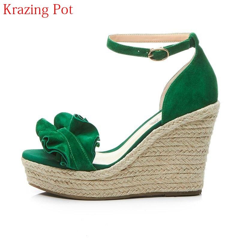 2019 mode Superstar Marke Sommer Schuhe Ankle Strap Plattform Peep Toe Frauen Sandalen Runway Keile High Heels Casual Schuhe L65-in Hohe Absätze aus Schuhe bei  Gruppe 1