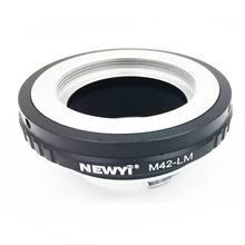 Newyi M42 Lm adaptörü M42 Lens L eica M Lm kamera M9 için Techart Lm Ea7 kamera Lens halkası aksesuarları