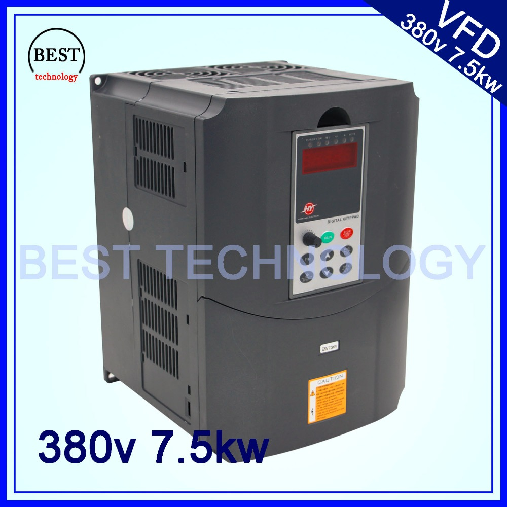 380v 7.5kw  VFD Variable Frequency Drive  Inverter / VFD 3HP Input 3HP Output CNC spindle  Driver spindle speed control 220v 5 5kw vfd variable frequency drive vfd inverter 3hp input 3hp output cnc spindle motor driver spindle motor speed control