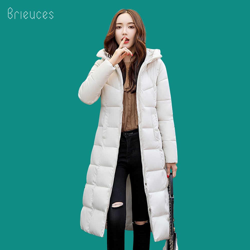 4c341817ba4d Beieuces 2018 теплая зимняя куртка женская с капюшоном Большие размеры  Утепленные длинные парки верхняя одежда хлеб