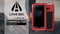 Love Mei Powerful Aluminum Metal Shockproof case for Samsung Galaxy Note FE 360 Full protection case Life Waterproof